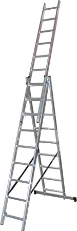 Three-part Aluminium Ladder